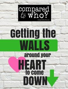 Do you have a hard time letting others in? Here's some encouragement on how to let your walls down.