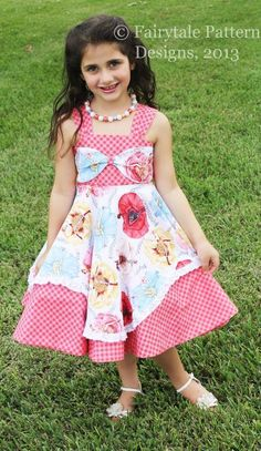 Looking for a sewing pattern for your next project? Look no further than Belle's Bow Dress PDF Pattern from FairytaleDesign! - via @Craftsy