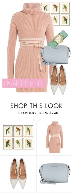 """dress"" by masayuki4499 ❤ liked on Polyvore featuring William Stafford, Valentino, Marni, MICHAEL Michael Kors, Michele and IWearPinkFor"