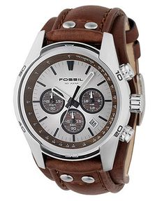 Fossil Watch, Men's Decker Brown Leather Strap CH2565 - All Watches - Jewelry & Watches - Macy's