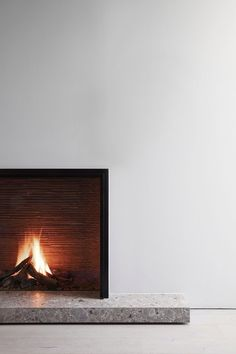 Bedroom Fireplace, Home Fireplace, Fireplace Remodel, Modern Fireplace, Living Room With Fireplace, Fireplace Surrounds, Contemporary Fireplace Designs, Take Shelter, Marble Fireplaces