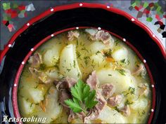 Chicken Gizzard and Potato Soup