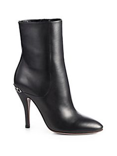 Gucci - Elizabeth Leather Ankle Boots