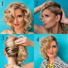 Como tener un peinado retro estilo 80´ en 4 simples pasos | Decoración de Uñas - Manicura y Nail Art