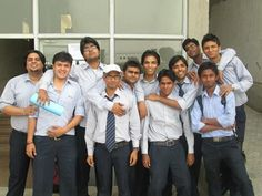 vipin yadav with his college friends.