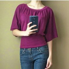 Marled fuchsia dolman sweater Gorgeous purple colored sweater with intricate marled design. BCX Sweaters Crew & Scoop Necks
