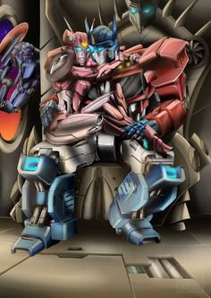 This is something that was done for me by: Iknas and he aloud me to INK an color it. I know it has taken a while I just had to finish a few others befor. IDW Optimus and Elita by iknas Gogeta And Vegito, Monster Musume, Transformers Optimus Prime, Bendy And The Ink Machine, Robot Art, Romance, My Character, Father And Son, Lotr