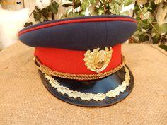 Romanian People's Army officers' parade dress uniform visor cap.
