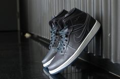 f183d417bdc24a Image of Air Jordan 1 Mid Nouveau Wolf Grey White Latest Sneakers
