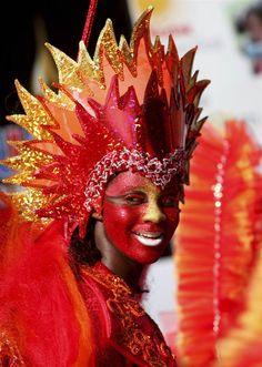 Circus Costume, Carnival Costumes, Sinulog Festival, Fire Costume, Phoenix Costume, Carnival Dress, Pageant Makeup, Floral Headdress, Caribbean Carnival