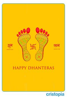 May the footprints of Goddess Lakshmi enter in your home and life.