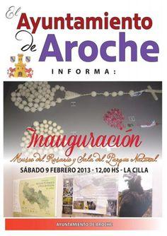 Cartel  de la inauguración del Museo. UnicoEnElMundo
