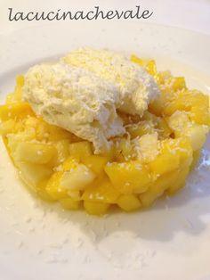 Tartare di frutta esotica con gelato