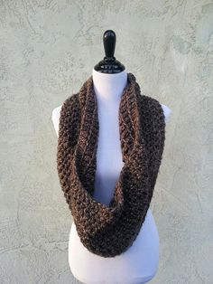 Large Chunky Crochet Cowl Scarf Hood by HandmadeReverie on Etsy