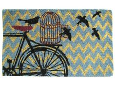 Chevron Bird Doormat