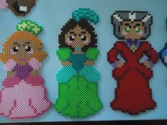 Cinderella's Step Sisters and Step Mother perler beads by PerlerHime on deviantART