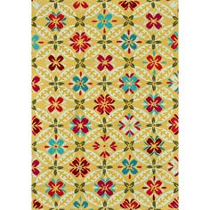 Multicolor hand-hooked rug.       Product: Rug    Construction Material: Polyester    Color: Mul...