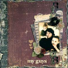 Rae_M's Gallery: ~Swirlydoos Kit Club~ My Guys Scrapbook Templates, Scrapbook Designs, Scrapbook Page Layouts, Scrapbook Cards, Mixed Media Scrapbooking, Scrapbooking Ideas, Picture Layouts, Vintage Love, Altered Art