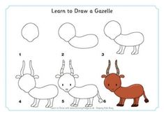 Learn to Draw a Gazelle