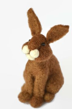 Bunny Rabbit needle felted by BearCreekDesign