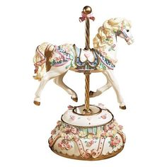 Image detail for -San Francisco Music Box Company Carousel Horses ❤ liked on Polyvore