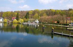 Blick über den Kalksee an der Schleuse Woltersdorf. Places Ive Been, Blog, Travel, Berlin Wall, Viajes, Blogging, Trips, Tourism, Traveling