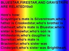 And BrightHeart Is Related To CloudTail And cloudtail is firestars cousin << can't comment so yeah. but cloudtail is FireStar's nephew! Warrior Cats Quotes, Warrior Cat Names, Warrior Cats Funny, Warrior Cats Comics, Warrior Cats Series, Warrior Cats Books, Warrior Cats Art, Cat Comics, Serval Cats