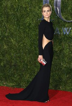 Taylor Schilling in Michael Kors. See what everyone wore to the 2015 Tony Awards.