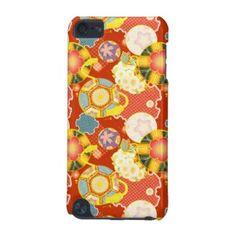 Classic oriental japanese vibrant kimono patternipod touch #smartphone #oriental #japanese #kimon #pattern #case
