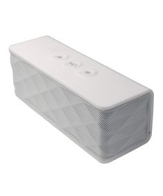 This Bluetooth-compatible portable speaker is the perfect solution for taking music on the go. It features a variety of input options to support a number of audio devices and even boasts a built-in microphone, so it's easy to transition from rocking out to taking calls on a connected phone.                                                     6'' W x 2'' H x 2'' D