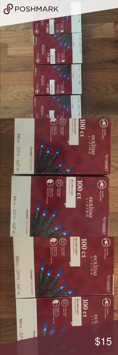 Lot of 4 Christmas lights New in box. Never opened holiday living Accessories