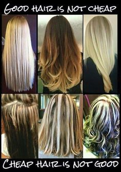 Many factors weigh in when choosing hair extensions that are right for you. Learn what those so you can look fabulous with your longer, fuller hair. Hairstylist Memes, Hairdresser Quotes, Cosmetology Quotes, Cosmetology Student, My Hairstyle, Cool Hairstyles, Hairdos, Blond, Business Hairstyles