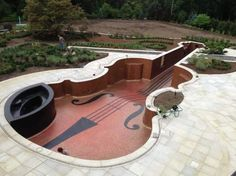 Violin Swimming Pool!! Love that the chin rest is a jacuzzi!!  #MyVeganJournal