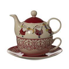 Tea set:  Santa Tea for One