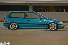 15x8 Konig Wideopens on a Teal EF Side by Lunchbawkz, via Flickr
