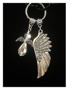 Christian Keychain Keychain Angel Keychain Angel by DorysBoutique
