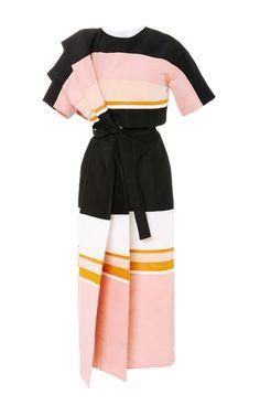 Cut & Sewn Ultrafine Silk Faille Lady Columbia Dress by ROSIE ASSOULIN for Preorder on Moda Operandi