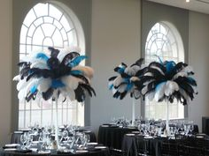 black and turquoise wedding centerpieces - Google Search