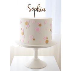 New Cake Simple Birthday Girl Baby Shower Ideas 1st Birthday Cake For Girls, Baby Birthday Cakes, Birthday Ideas, Christening Cake Girls, Girl Baptism, Confirmation Cakes, Girl Cakes, Celebration Cakes, Simple Elegant Cakes