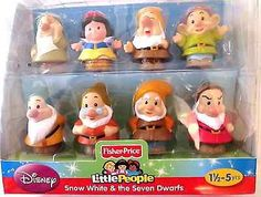 Disney Fisher Price Little People Snow White & the Seven Dwarfs- Sofia loves playing with them
