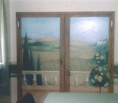 Mural of Tuscan Vineyard