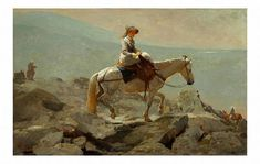 The Bridle Path White Mountains 1868 By Winslow Homer . Truly Art Offers Giclee Unframed Prints on Paper, Canvas Art, and Framed Art in all our Collections. Pierre Auguste Renoir, Winslow Homer Paintings, Clark Art, White Mountains, Mountain Art, Western Art, American Artists, British Artists, Les Oeuvres
