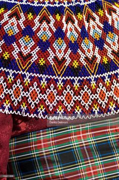 Stock Photo : Detail of Inuit woman's traditional dress, Upernavik, Greenland