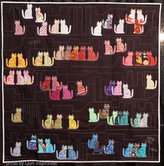 Cats on the Roof by Cecilia Koppmann. Photo by Quilt Inspiration. 2017 Houston International Quilt Festival.