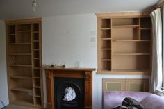 Alcove Shelving in Twickenham, Alcove Shelving, Alcove Cupboards, Built In Cupboards, Shelves, Cupboard Ideas, Chimney Breast, Creative Storage, Fireplaces, Storage Solutions