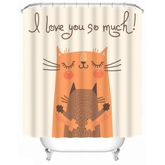 Cat shower curtains, cat printed shower curtains - free shipping worldwide