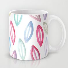 painted patterned leaves Mug by aticnomar - $15.00