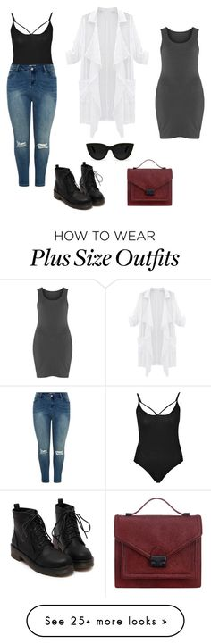 """Special (Plus)"" by ebby-forever on Polyvore featuring Boohoo, Boris, Loeffler Randall, Quay, Fall, black, autumn and plussize"