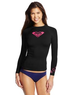 Roxy Juniors' Whole Hearted Long-Sleeve Rashguard - http://darrenblogs.com/2016/05/roxy-juniors-whole-hearted-long-sleeve-rashguard/
