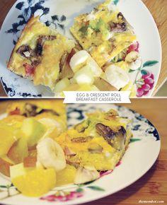 Egg & crescent roll breakfast casserole recipe | TheMombot.com